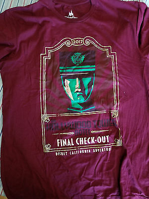 Disneyland DCA Tower Of Terror Hollywood Tower Hotel Final Check Out T-Shirt M