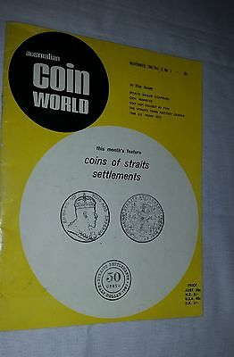 Australian Coin World 1967 issue featuring Straits Settlements coins 42 pages