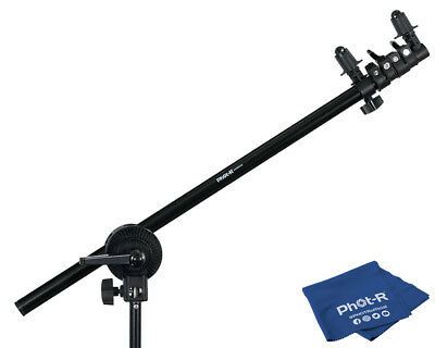 Phot-R 175cm Collapsible Reflector Holder Boom Arm Grip Stand Microfibre Cloth
