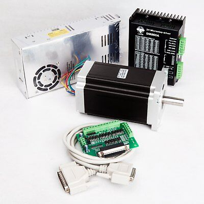 【German Ship】1axis Stepper Motor Nema34 1232oz.in 5.6A&Stepper Driver DM860A CNC
