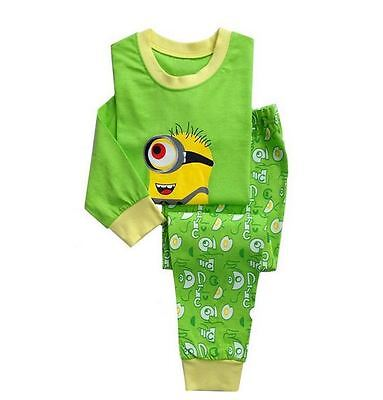 minion boys childrens pyjamas sleepwear set