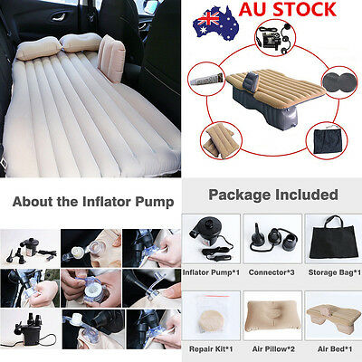 Car Air Bed Mattress Inflatable Car Back Seat Holiday Travel Rest Sleep Camping
