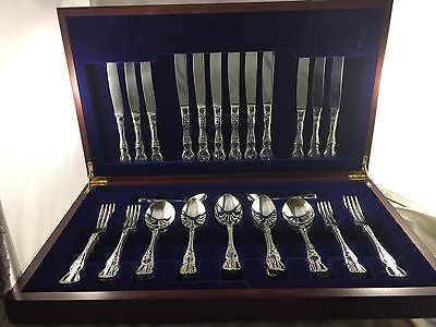 Exquisite Vintage Silver  44Pce Rodd  ''Camille'' Cutlery Set in Box