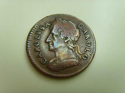 1674 Farthing King Charles Ii British Coin Great Britain