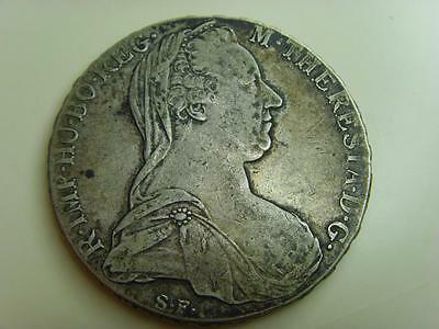 1780 Possible Early Re-Strike Austria Silver Maria Theresa Thaler Coin