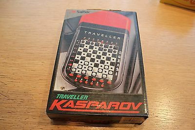 Vintage 1991 Saitek Traveller Kasparov Pocket Size Chess Electronic Game