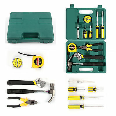 12X Tech Professional Basic Hand Carry Tool Box Kit Fix Repair Household Tools