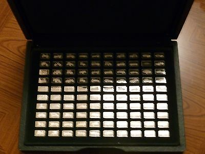100 Greatest Cars solid silver miniture Collection