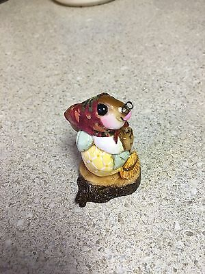 HOUSEKEEPING BUNNY w/Kerchief by Wee Forest Folk, WFF# B-1s, Forget-Me-Nots