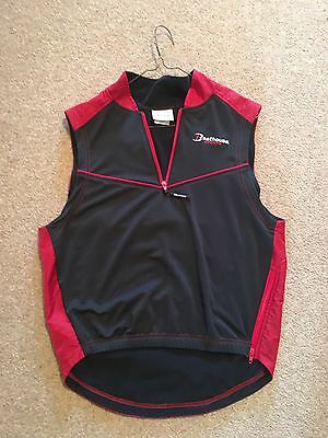 Boathouse Rowing Gilet Rare Training Top Red Black