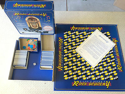 Vintage Collectable Retro Glen A Baker's Rock Academy 1985 Board Game Music Game