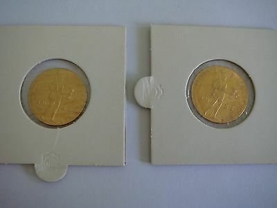 2 X 1928 Netherlands Ducat Gold Unc Coin- Very Rare!!!