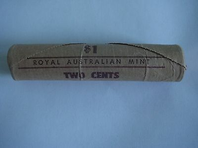 1969 Mint Roll Of 50 X 2 Cents Very Rare!!!!!