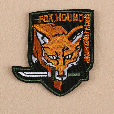 Embroidered Sew Iron on Patch Fox Badge Applique Fabric Jacket Bag Clothes Craft