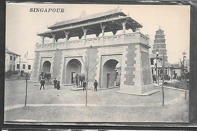 Singapore Printed Postcard Of Indian Temple.