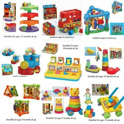 Funtime Baby/Toddler Toys-Shape Sorters, Push/Pull along toys, bath toys & more