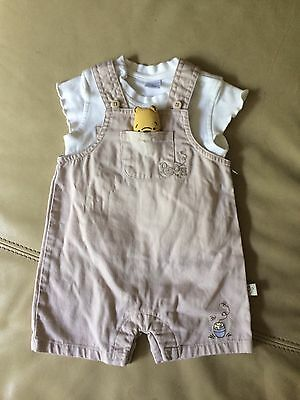 Disney Winnie The Pooh Dungerees And T Shirt Set 0-3months