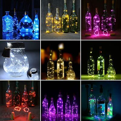 20 LED Night Light Cork Shaped Starry Lights Wine Bottle Lamp For Wedding Party