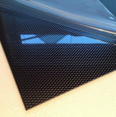 4mm Carbon Fibre Effect ABS Sheet 4 SIZES TO CHOOSE Acrylonitrile Butadiene Sty