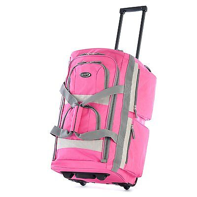Luggage Rolling Duffel Bag Pink Travel Set Suitcase Trolley Carry on Wheels ABS