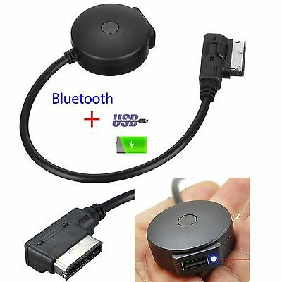 Wireless Bluetooth Adapter MMI MDI AMI to USB AUX Music Interface Cable For Audi