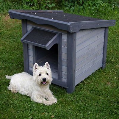 Dog Kennel Wooden Home Cabin Pet House Weatherproof Shelter Outdoor Dogs - Small