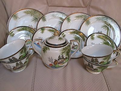 hayasi fine china illustrated tea set brilliant quality