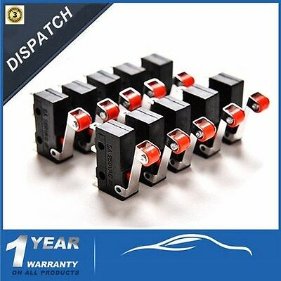 10x 5A AC 125-250V KW12-3 Roller Lever Arm Terminal Microswitch Limit Open/Close