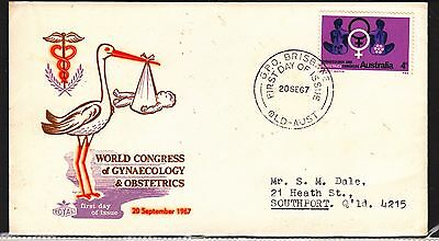AUSTRALIA 1967 4c Gynaecology Stamp on FDC...