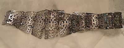 ANTIQUE VICTORIAN EDWARDIAN ART NOUVEAU EPNS/SILVER PLATED NURSES BELT 140grms