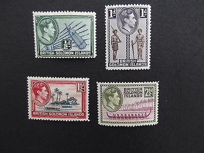 British Solomon Islands - George VI 1939-1951 Mounted Mint Up To Ten Shilling