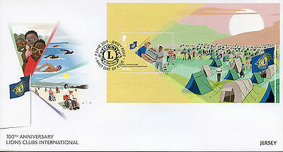 Jersey 2017 FDC Lions Club International 100th Ann 1v M/S Cover Tents Stamps