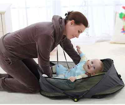 Brand New Newborn Infant Baby Fold n Go Portable Travel Bassinet Cot Bed