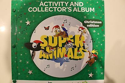 Woolworths Super Animals Christmas Edition Album + full set of 72 cards