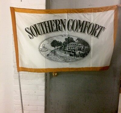 """Southern Comfort Flag - 50""""X 30"""" - includes flagpole and mounting hardware - NIB"""