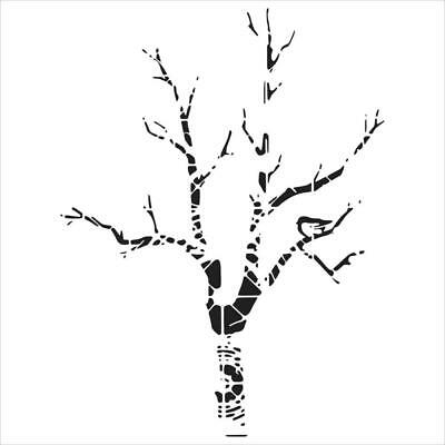 "NEW The Crafter's Workshop Stencils 12""x12"" - Shadow Tree"