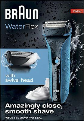 Braun WaterFlex WF2S Wet & Dry Rechargeable Blue Shaver NEW!! RRP £159.99