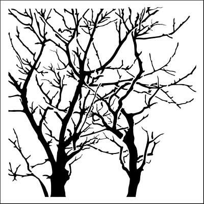 "NEW The Crafter's Workshop Stencils 12""x12"" - Branches Reversed"