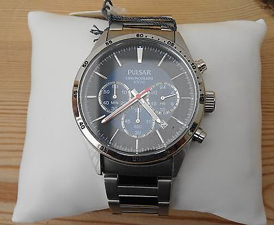 Pulsar PT3003X1 Men's Chronograph Stainless Steel Bracelet Watch: