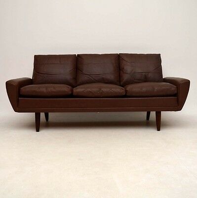 DANISH RETRO LEATHER 64 SOFA BY GUSTAV THAMS VINTAGE 1960's