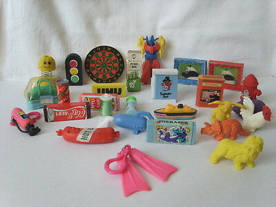 Vintage 1980s ERASER 28 Novelty RUBBER Job Lot Drinks Animals Panda Ship Bag