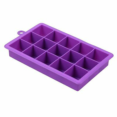 15 Cavities Silicone Mold Tool Jelly Ice Cubes Tray Pudding Mould Purple