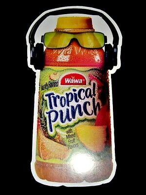 WAWA Tropical Punch Bottle with Headphones 2 ft Cut Out Advertisement Large RARE