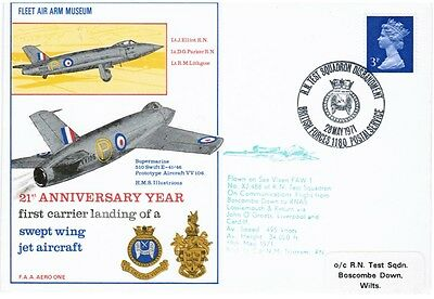 GB FDC 21st Anniversary First Carrier Landing of a Swept Wing Jet Aircraft