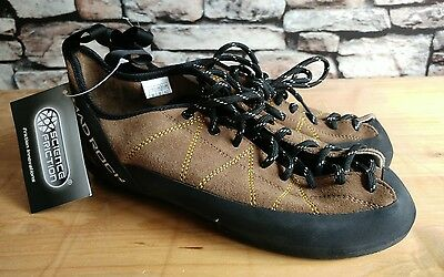 Mad Rock Brown Leather Suede Climbing Shoes Size Uk 8 Eu 42 (New)