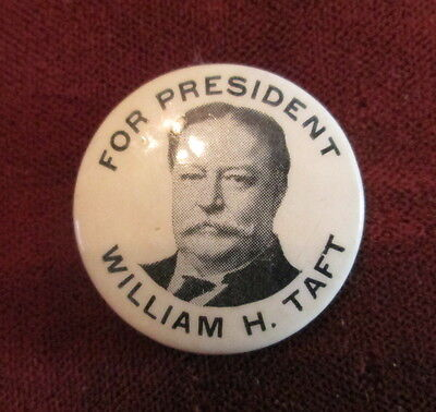 William Taft For President Celluloid Pinback National Equipment Co Paper Lining