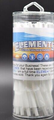 Elements Rice Cones 1 1/4 SIZE  Authentic Pre-Rolled Cones 75 pack  w/ Filter