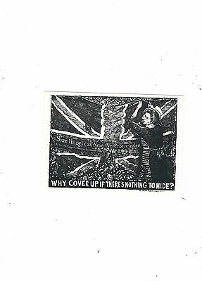 Political Postcardleeds Published  Thatcher   Why Cover Up If There Is Nothing