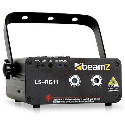 Beamz Ls-Rg11 Laser Lighting Special Effects Red Green Lights Dmx 7-Channel Gobo