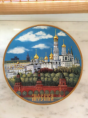 Russian souvenirs vintage Moscow Russia Decorative Plate